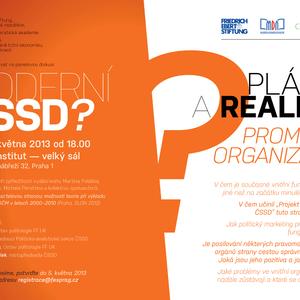 PRAHA: Moderní ČSSD? Plány a realita proměny organizace, úterý 7. května, 18 hod.