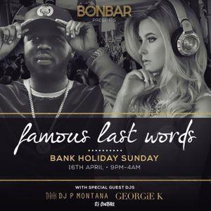 DJGEORGIEK X DJ CUEBALL X MICHAEL WALLS Present BONBAR BANK