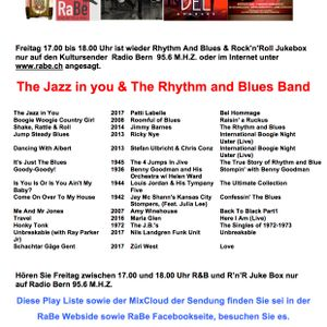 "Rhythm and Blues Jukebox 26-05-2017 ""The Jazz in You"""