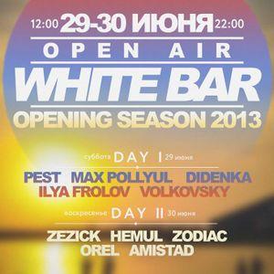 White Bar Opening Season live mix by Zezick