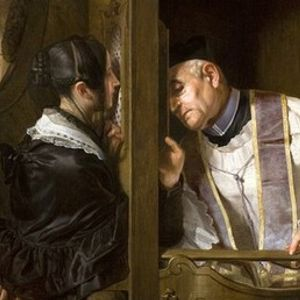 Sexo en el confesionario