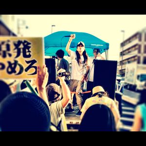 Live on a truck at No Nukes Demo Funabashi, Chiba on Sep 17th, 2012.