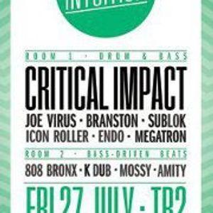 Critical impact @ intuition feat  megatron mc july 2012...