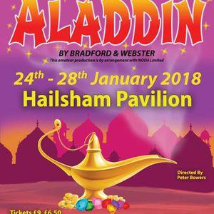 Hailsham Theatres Aladdin cast on The Wayne Spicer Radio Show