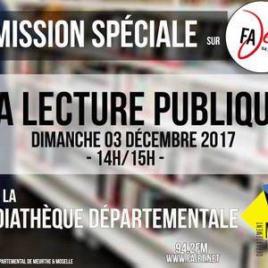 LA LECTURE PUBLIQUE - MEDIATHEQUE DEPARTEMENTALE DE MEURTHE ET MOSELLE - RADIO FAJET