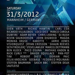 Sven Väth - Live @ Time Warp 2012, Mannheim, Alemanha (31.03.2012)