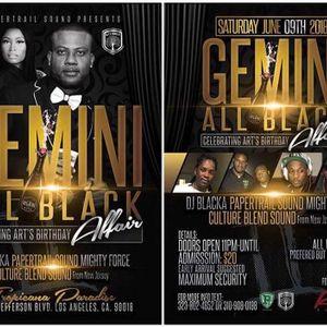Gemini All Black Affair (Art's Birthday) - PaperTrail Sound (Zavia & FireRay) Pt.1