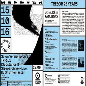 Dj Shufflemaster @ Tresor 25 Years - Shintaiso Building B2F Tokyo - 15.10.2016