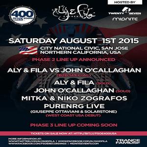 John O'Callaghan – Future Sound of Egypt 400 @ City National Civic, USA (2015-08-01)