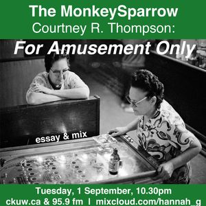 The MonkeySparrow 17- Courtney R. Thompson, 'For Amusement Only'