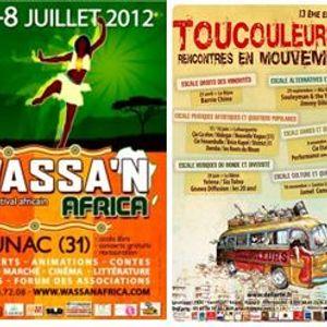 Les bambous (radio FMR) - 18 juin 2012 - Festivals Toutcouleurs et Wassa'n Africa