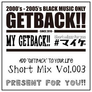 MY GETBACK!! Vol.003 Mixed by DJ LIU - Summer Driving MIX-