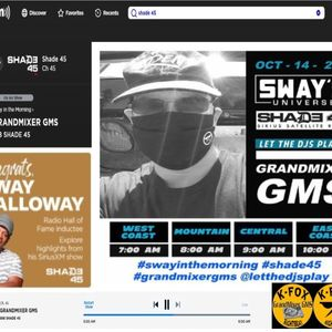 Grandmixer GMS on Sway In The Morning! October 14, 2020