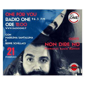 NON DIRE NO OSPITI A RADIO ONE 22 FEBBRAIO 2017