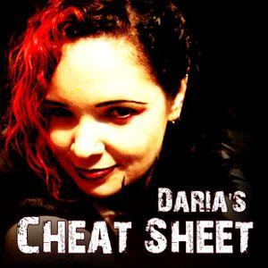Daria's Cheat Sheet 20110413