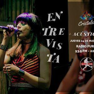 Cristales » Entrevista y acústico en Hace Rock (Radio Furor -  24/03/2016)