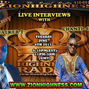 CHANTIE I LIVE INTERVIEW WITH DJ JAMMY ON ZIONHIGHNESS RADIO 060617