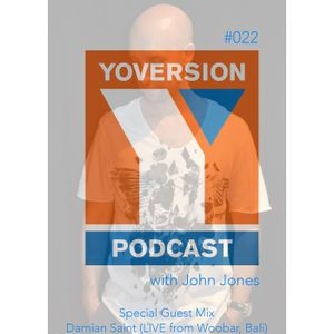 Yoversion Podcast - 022 - July 2015 - Special Guest Mix - Damian Saint