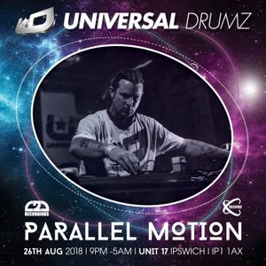 Parallel Motion live at Universal Drumz Aug 2018