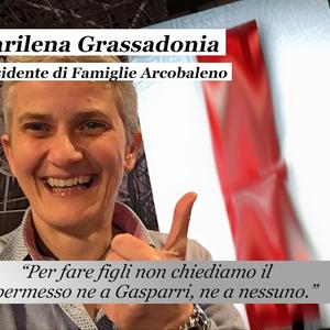 """Marilena Grassadonia """"Per fare i figli non chiediamo il permesso ne a Gasparri ne a nessuno."""""""