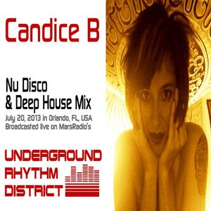 Nu Disco mix by Candice B, WPRK 91.5 FM, Orlando, FL, Underground Rhythm District, 20JUL13