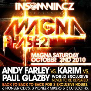 Andy Farley b2b Karim b2b Paul Glazby Live At Insomniacz, Magna 2010 Part 2
