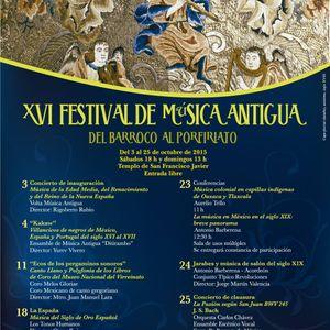 XVI Festival de Música Antigua. Del Barroco al Porfiriato