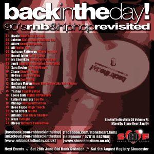 BackInTheDay! Mix CD Volume 24