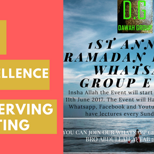 The Excellence of Observing Fasting(DAY 5)