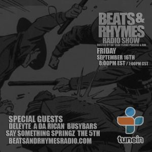 Beats & Rhymes Radio Show 09.16.16 (Police Brutality)