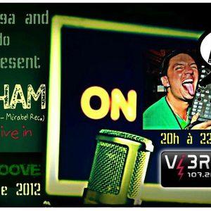 Friday 26 october 2012 Dj Frodo & Rodham in CITYGROOVE ( RADIO VIBRATION ) 107.2FM BX