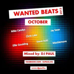 Wanted Beats 2013 October Mixed By Dj Paul (www.djpaul.hu)