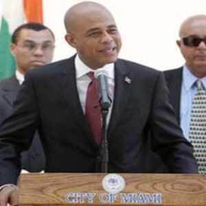 Wakimg Exumé Reporting on PDT. Michel Martelly Visit in Miami