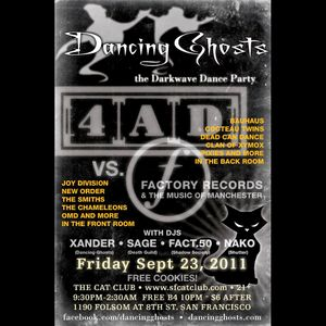 DJ Sage | Dancing Ghosts Factory Records Tribute (September 2011)
