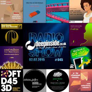 DEEPINSIDE RADIO SHOW 045 (Tony Momrelle Artist of the week)