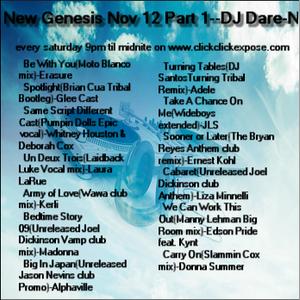 New Genesis Nov 12 Part 1