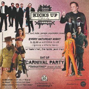 KICKS UP MIXTAPE SPECIAL 'TARANTINO' CARNIVAL PARTY