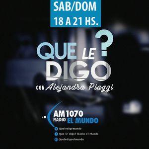 """6° PROGRAMA""""QUE LE DIGO"""". AM 1070 EL MUNDO. 17/9/2017 - MONI FRANCESE"""