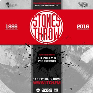 Dj Philly & 210 Presents - Trackside Burners Radio Show 163 - STONES THROW
