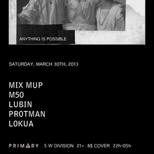 """Zachary Lubin at """"Anything Is Possible"""" @ Primary (Chicago - USA) - 30 March 2013"""