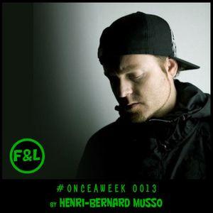 #ONCEAWEEK 0013 by HENRI-BERNARD MUSSO (DJ SHADOW)
