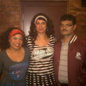 Wendy Mateo and Lorena Diaz Dwyer of Dominizuelan join Harv Roman on Chicago's WCGO Radio in 2012.