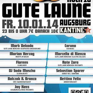 Sebastian Sporer live @ Gute Laune Hoch 10 @ Kantine Augsburg 10.01.2014