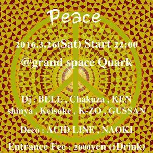2016.3.26 PEACE @QUARK psytrance mix by K-ZO