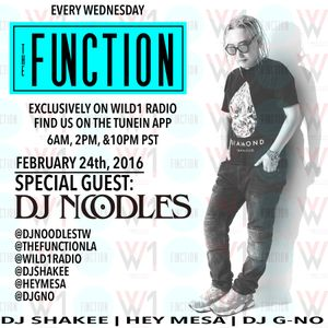 The Function (Episode 008) with DJ SHAKEE, HEY MESA, DJ GNO, and guest DJ NOODLES