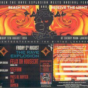 "Resident DJ Team (part 1) at ""Radikal Fear"" at Cherry Moon (Lokeren - Belgium) - 5 August 1994"