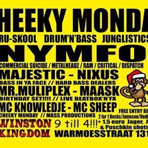 GIBBO, MR MULTIPLEX, MC SHEEP, MC KNOWLEDJE AND MAASK 23-12-2013 CHEEKY MONDAY