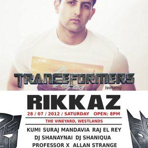 TranceFormers@Vineyard, 28/7/12 - DJ Shanaynai