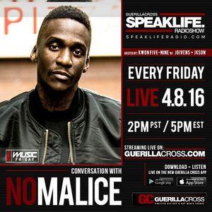 SPEAKLIFE Radio: New Music Friday – Conversation w/ No Malice