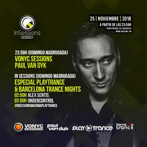 Alex Sentis @ Maxima FM In Sessions - Especial PlayTrance & Barcelona Trance Nights (25-11-2018)